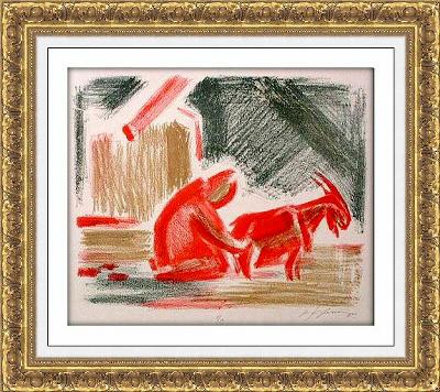 Mikhail Karasik 006 ≪赤いヤギの乳搾り≫