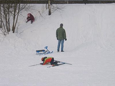 モスクワの雪遊び