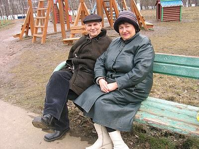 初老の夫婦